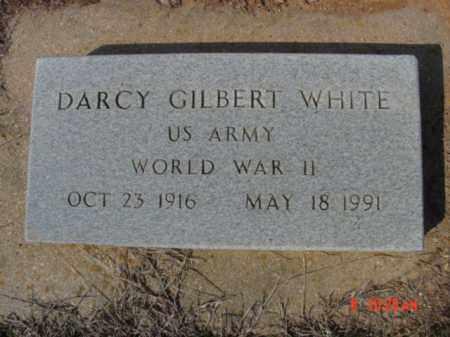 WHITE  (VETERAN WWII), DARCY GILBERT - Izard County, Arkansas | DARCY GILBERT WHITE  (VETERAN WWII) - Arkansas Gravestone Photos