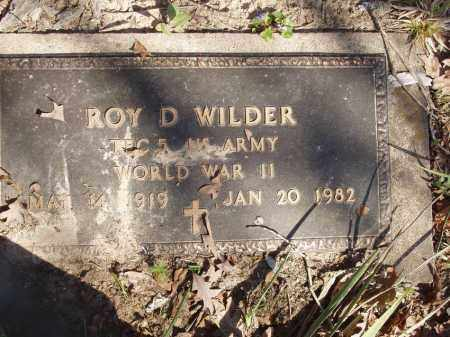 WILDER (VETERAN  WWII), ROY D - Izard County, Arkansas | ROY D WILDER (VETERAN  WWII) - Arkansas Gravestone Photos