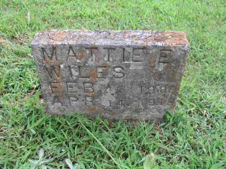 WILES, MATTIE ELIZABETH - Izard County, Arkansas | MATTIE ELIZABETH WILES - Arkansas Gravestone Photos