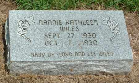 WILES, NANNIE KATHLEEN - Izard County, Arkansas   NANNIE KATHLEEN WILES - Arkansas Gravestone Photos