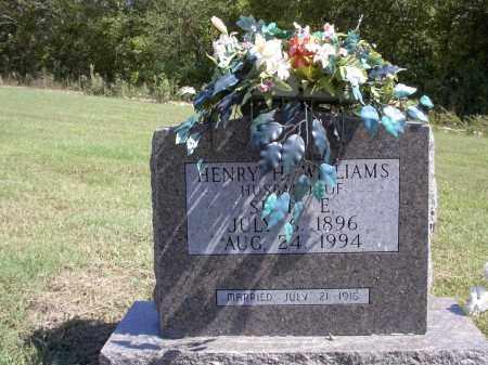 WILLIAMS, HENRY HUE - Izard County, Arkansas | HENRY HUE WILLIAMS - Arkansas Gravestone Photos