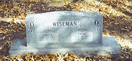 WISEMAN, JAMES K. - Izard County, Arkansas   JAMES K. WISEMAN - Arkansas Gravestone Photos