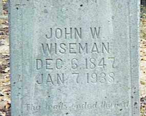 WISEMAN, JOHN W. - Izard County, Arkansas   JOHN W. WISEMAN - Arkansas Gravestone Photos