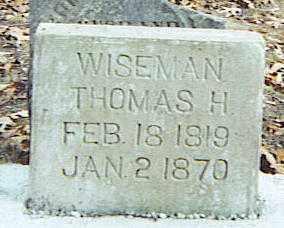 WISEMAN, THOMAS H. - Izard County, Arkansas | THOMAS H. WISEMAN - Arkansas Gravestone Photos