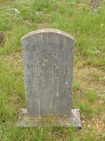WREN, SHADRACK H - Izard County, Arkansas | SHADRACK H WREN - Arkansas Gravestone Photos