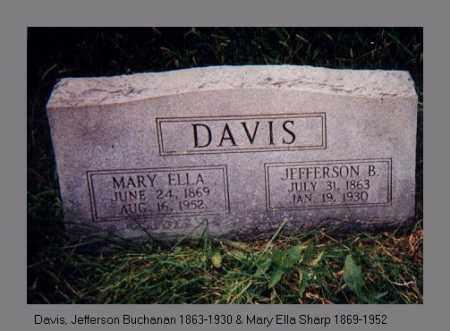 SHARP DAVIS, MARY ELLA - Izard County, Arkansas | MARY ELLA SHARP DAVIS - Arkansas Gravestone Photos