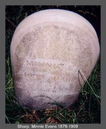 EVANS SHARP, MINNIE - Izard County, Arkansas | MINNIE EVANS SHARP - Arkansas Gravestone Photos