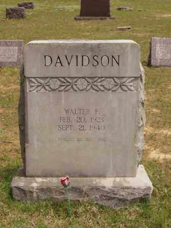 DAVIDSON, WALTER FRED - Izard County, Arkansas   WALTER FRED DAVIDSON - Arkansas Gravestone Photos