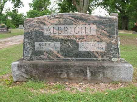 ALBRIGHT, GEORGE A - Jackson County, Arkansas | GEORGE A ALBRIGHT - Arkansas Gravestone Photos