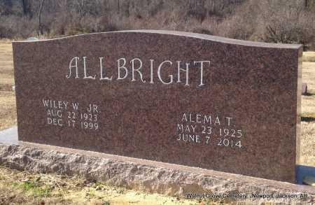 ALLBRIGHT, JR, WILEY W - Jackson County, Arkansas | WILEY W ALLBRIGHT, JR - Arkansas Gravestone Photos