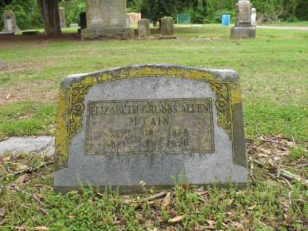 GRUBBS ALLEN MCCAIN, ELIZABETH - Jackson County, Arkansas | ELIZABETH GRUBBS ALLEN MCCAIN - Arkansas Gravestone Photos