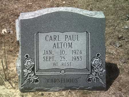 "ALTOM, CARL PAUL ""CARNELIOUS"" - Jackson County, Arkansas 