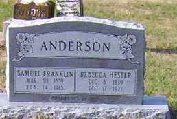 HESTER ANDERSON, REBECCA - Jackson County, Arkansas   REBECCA HESTER ANDERSON - Arkansas Gravestone Photos