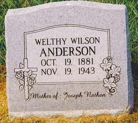 ANDERSON, WELTHY - Jackson County, Arkansas | WELTHY ANDERSON - Arkansas Gravestone Photos