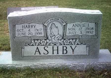 ASHBY, ANNIE I - Jackson County, Arkansas | ANNIE I ASHBY - Arkansas Gravestone Photos
