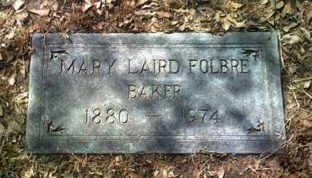 BAKER, MARY LAIRD FOLBRE - Jackson County, Arkansas | MARY LAIRD FOLBRE BAKER - Arkansas Gravestone Photos