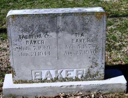 BAKER, T A - Jackson County, Arkansas   T A BAKER - Arkansas Gravestone Photos