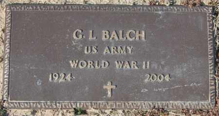 BALCH (VETERAN WWII), G L - Jackson County, Arkansas   G L BALCH (VETERAN WWII) - Arkansas Gravestone Photos