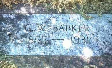 BARKER, G W - Jackson County, Arkansas | G W BARKER - Arkansas Gravestone Photos