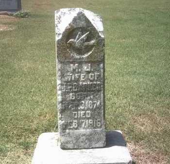 BARKER, M J - Jackson County, Arkansas   M J BARKER - Arkansas Gravestone Photos