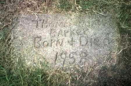 BARKER, THOMAS ROBERT - Jackson County, Arkansas | THOMAS ROBERT BARKER - Arkansas Gravestone Photos