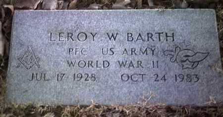 BARTH (VETERAN WWII), LEROY W - Jackson County, Arkansas | LEROY W BARTH (VETERAN WWII) - Arkansas Gravestone Photos