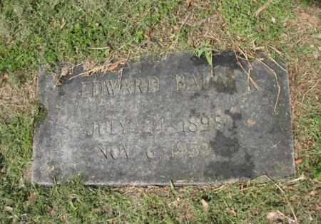 BAUM, EDWARD - Jackson County, Arkansas   EDWARD BAUM - Arkansas Gravestone Photos
