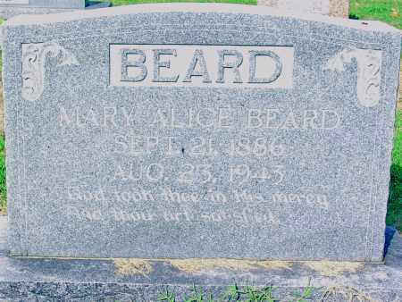 HUEY BEARD, MARY ALICE - Jackson County, Arkansas | MARY ALICE HUEY BEARD - Arkansas Gravestone Photos