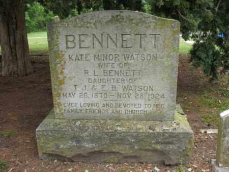 WATSON BENNETT, KATE MINOR - Jackson County, Arkansas | KATE MINOR WATSON BENNETT - Arkansas Gravestone Photos
