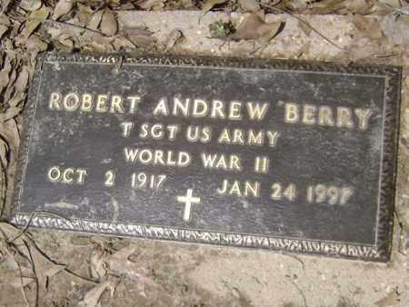 BERRY (VETERAN WWII), ROBERT ANDREW - Jackson County, Arkansas | ROBERT ANDREW BERRY (VETERAN WWII) - Arkansas Gravestone Photos