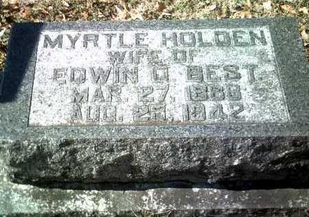 HOLDEN BEST, MYRTLE - Jackson County, Arkansas | MYRTLE HOLDEN BEST - Arkansas Gravestone Photos