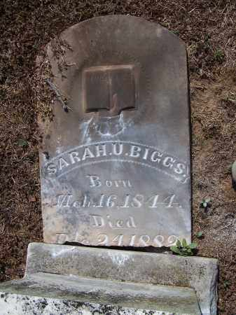 BIGGS, SARAH U - Jackson County, Arkansas | SARAH U BIGGS - Arkansas Gravestone Photos