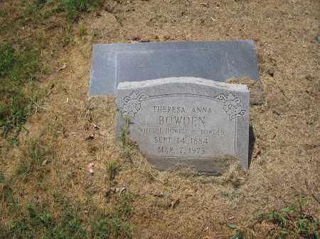 BOWDEN, THERESA ANNA - Jackson County, Arkansas | THERESA ANNA BOWDEN - Arkansas Gravestone Photos