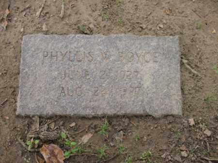 BOYCE, PHYLLIS W - Jackson County, Arkansas | PHYLLIS W BOYCE - Arkansas Gravestone Photos
