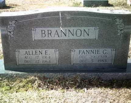 BRANNON, FANNIE G - Jackson County, Arkansas | FANNIE G BRANNON - Arkansas Gravestone Photos
