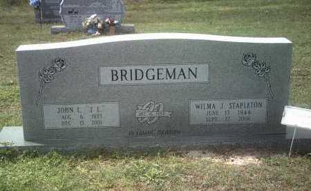 "BRIDGEMAN, JOHN L  ""J L"" - Jackson County, Arkansas | JOHN L  ""J L"" BRIDGEMAN - Arkansas Gravestone Photos"