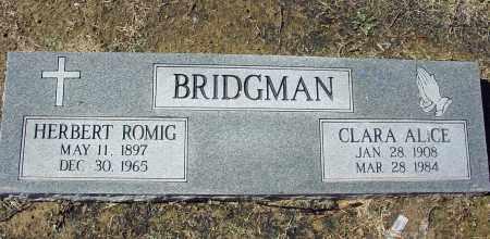 BRIDGMAN, HERBERT ROMIG - Jackson County, Arkansas | HERBERT ROMIG BRIDGMAN - Arkansas Gravestone Photos