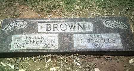 BROWN, J BEATRICE - Jackson County, Arkansas | J BEATRICE BROWN - Arkansas Gravestone Photos