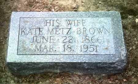 METZ BROWN, KATE - Jackson County, Arkansas | KATE METZ BROWN - Arkansas Gravestone Photos