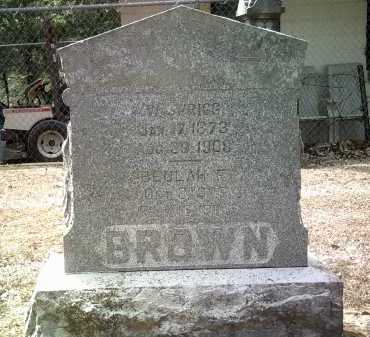 BROWN, W SPRIGG - Jackson County, Arkansas   W SPRIGG BROWN - Arkansas Gravestone Photos