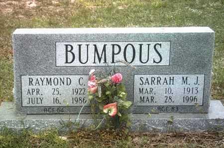 BUMPOUS, RAYMOND C - Jackson County, Arkansas | RAYMOND C BUMPOUS - Arkansas Gravestone Photos