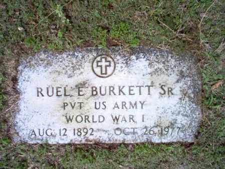BURKETT, SR  (VETERAN WWI), RUEL E - Jackson County, Arkansas   RUEL E BURKETT, SR  (VETERAN WWI) - Arkansas Gravestone Photos