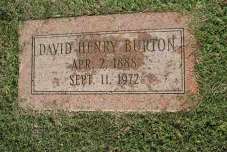 BURTON, DAVID HENRY - Jackson County, Arkansas   DAVID HENRY BURTON - Arkansas Gravestone Photos