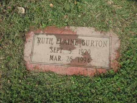 BURTON, RUTH ELAINE - Jackson County, Arkansas | RUTH ELAINE BURTON - Arkansas Gravestone Photos