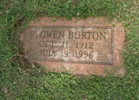 BURTON, R OWEN - Jackson County, Arkansas | R OWEN BURTON - Arkansas Gravestone Photos