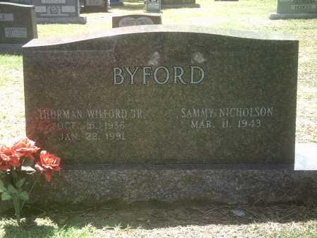BYFORD, JR, THURMAN WILFORD - Jackson County, Arkansas | THURMAN WILFORD BYFORD, JR - Arkansas Gravestone Photos