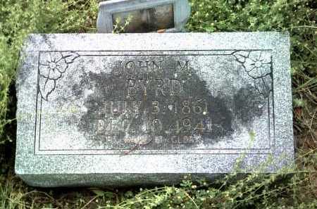 BYRD, JOHN M - Jackson County, Arkansas | JOHN M BYRD - Arkansas Gravestone Photos