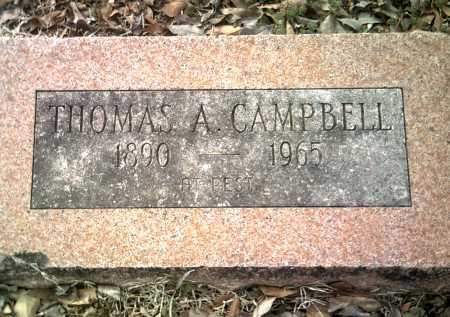 CAMPBELL, THOMAS A - Jackson County, Arkansas | THOMAS A CAMPBELL - Arkansas Gravestone Photos