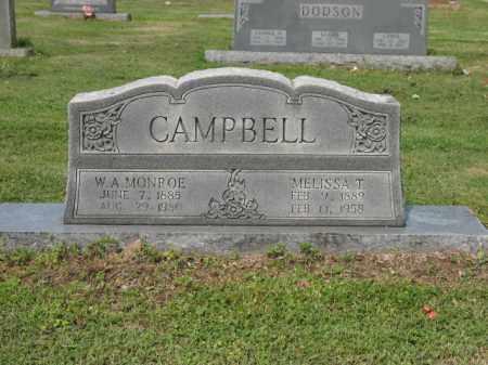 CAMPBELL, W A MONROE - Jackson County, Arkansas | W A MONROE CAMPBELL - Arkansas Gravestone Photos