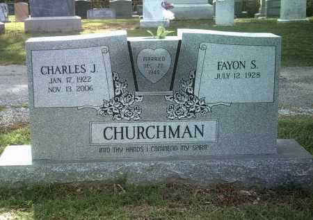 CHURCHMAN, CHARLES JOE - Jackson County, Arkansas   CHARLES JOE CHURCHMAN - Arkansas Gravestone Photos